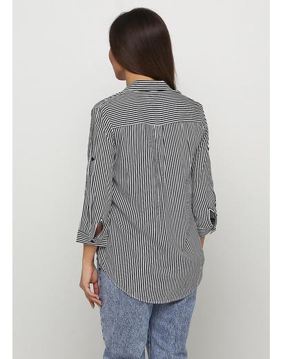Черно-белая в полоску блузка Viola & C демисезонная