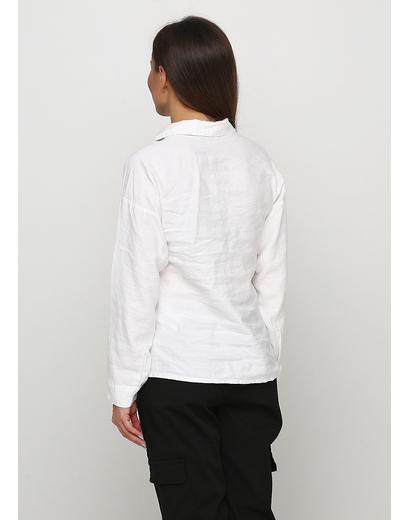 Белая однотонная блузка Vogue демисезонная
