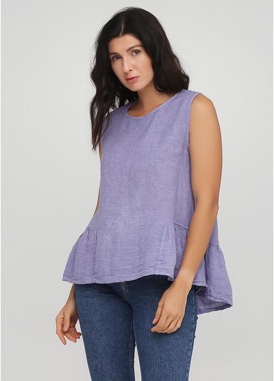 Светло-фиолетовая летняя блуза Made in Italy