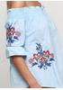 Голубая с орнаментом блузка Moni&co летняя