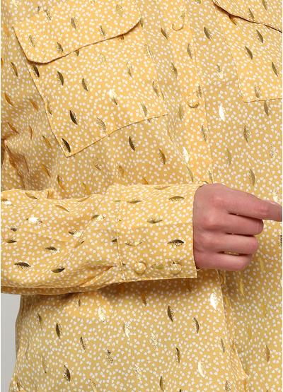 Желтая с рисунком блузка Viola & C демисезонная