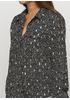 Черная с рисунком блузка Viola & C демисезонная