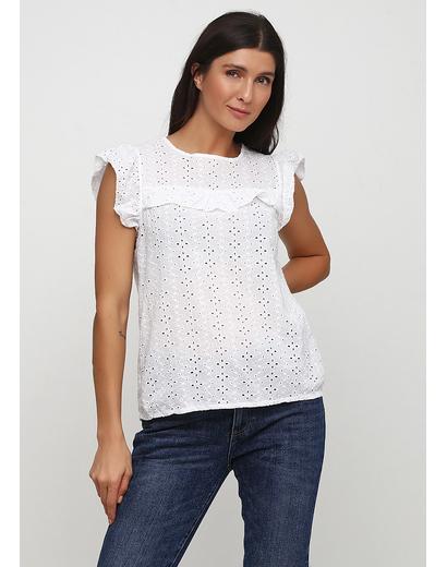 Белая однотонная блузка Made in Italy летняя