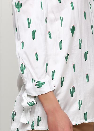 Белая блузка Lubesgluck летняя