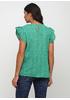 Зеленая однотонная блузка Made in Italy летняя
