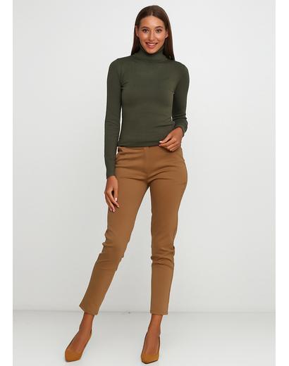 Коричневые демисезонные зауженные брюки Moda Italia