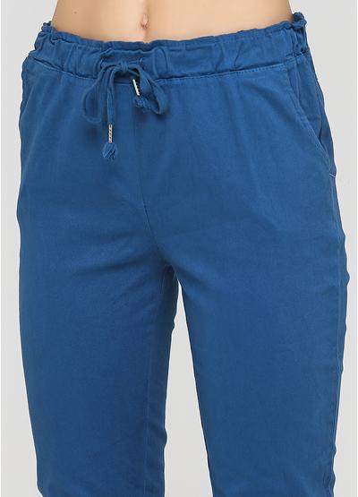 Бирюзовые демисезонные зауженные брюки Made in Italy