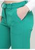 Штани Made in Italy вкорочені однотонні зелені кежуали поліестер