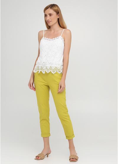 Лайм кэжуал летние укороченные, зауженные брюки Moda Italia