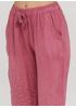 Темно-розовые кэжуал летние укороченные, зауженные брюки Made in Italy