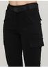 Штани Made in Italy вкорочені, карго однотонні чорні кежуали бавовна