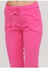Розовые кэжуал летние укороченные, зауженные брюки Moda Italia