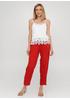 Красные кэжуал летние укороченные, зауженные брюки Made in Italy