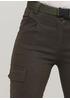 Штани Made in Italy вкорочені, карго однотонні хакі кежуали бавовна