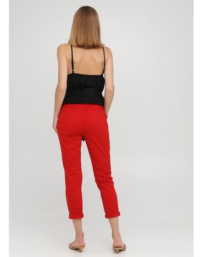 Красные кэжуал летние укороченные, зауженные брюки Moda Italia