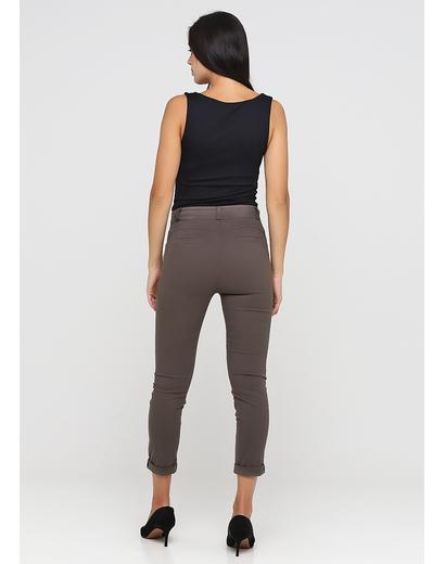 Коричневые демисезонные зауженные брюки Made in Italy
