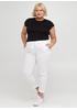 Белые кэжуал летние зауженные брюки Moda Italia