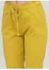 Желтые кэжуал летние укороченные, зауженные брюки Moda Italia