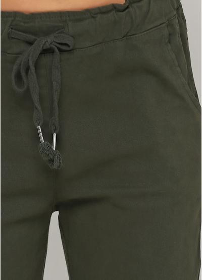 Хаки демисезонные зауженные брюки Lubesgluck