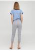 Серые кэжуал летние укороченные, зауженные брюки Moda Italia