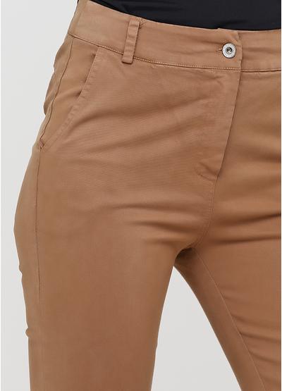 Бежевые демисезонные зауженные брюки Made in Italy