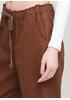 Штани Made in Italy вкорочені однотонні коричневі кежуали бавовна