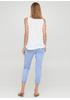 Голубые кэжуал летние укороченные, зауженные брюки Moda Italia