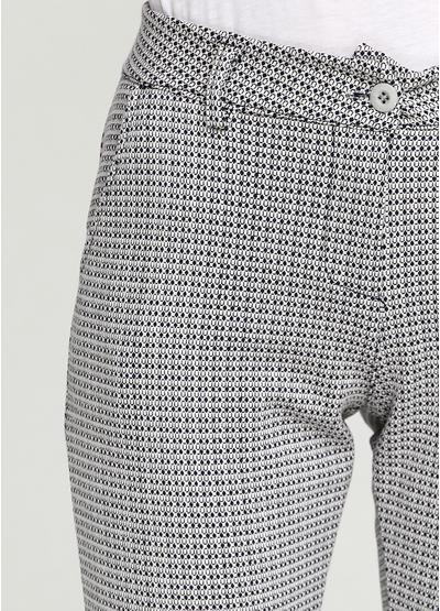Комбинированные демисезонные со средней талией брюки Naiif