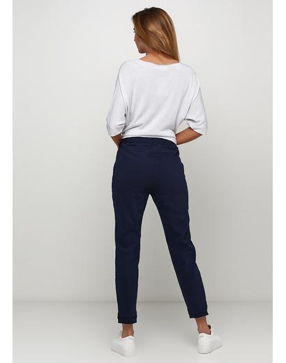 Синие демисезонные зауженные брюки Lubesgluck