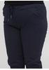 Темно-синие кэжуал летние укороченные, зауженные брюки Moda Italia