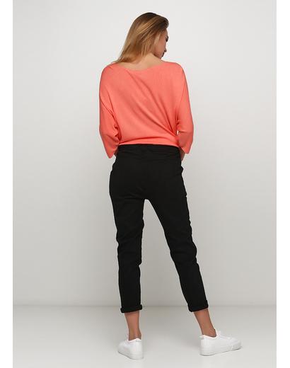 Черные демисезонные зауженные брюки Lubesgluck
