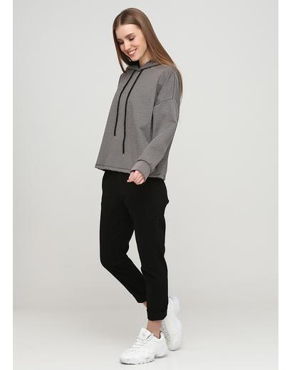 Черные демисезонные зауженные брюки Made in Italy