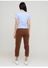Штани Made in Italy завужені, вкорочені однотонні коричневі кежуали бавовна, вельвет
