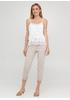 Бежевые кэжуал летние укороченные, зауженные брюки Moda Italia
