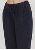 Темно-синие кэжуал летние укороченные, зауженные брюки Made in Italy