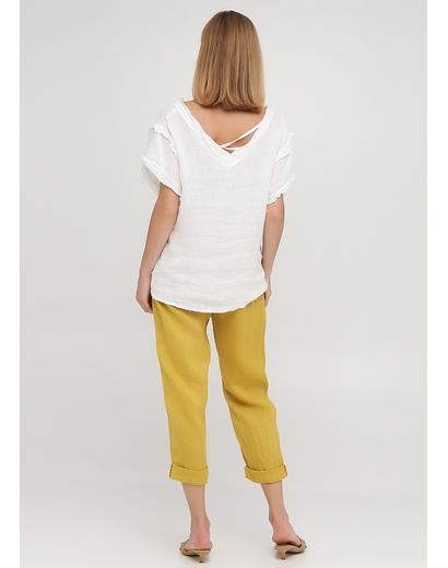Горчичные кэжуал летние зауженные брюки Made in Italy