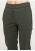 Хаки демисезонные зауженные брюки Made in Italy