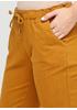 Желтые демисезонные зауженные брюки Made in Italy