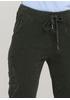 Штани Made in Italy завужені, вкорочені однотонні темно-зелені кежуали бавовна, вельвет