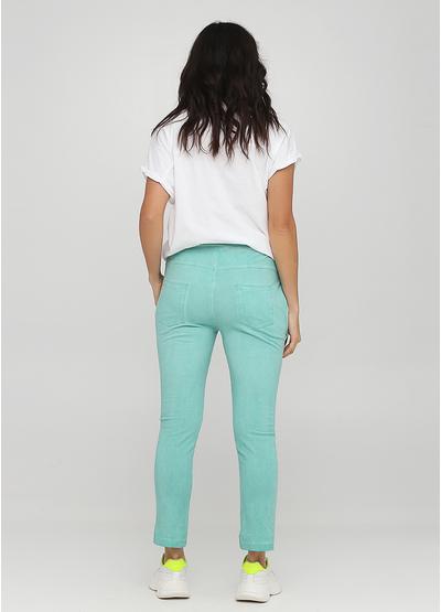 Светло-зеленые спортивные демисезонные зауженные брюки Made in Italy