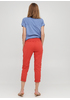 Терракотовые кэжуал летние укороченные, зауженные брюки Moda Italia