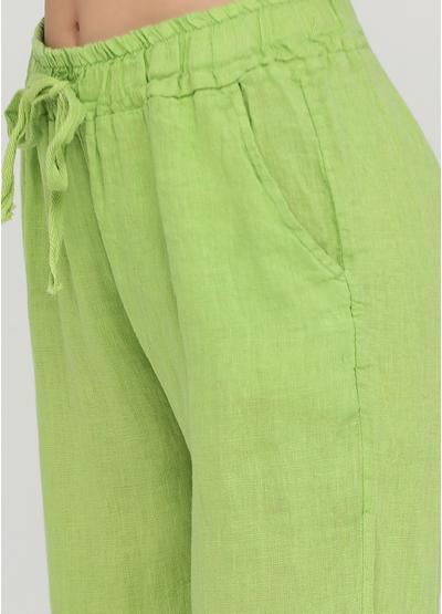 Лайм кэжуал летние укороченные, зауженные брюки Made in Italy