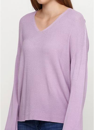 Сиреневый свитер пуловер Alpini Knitwear