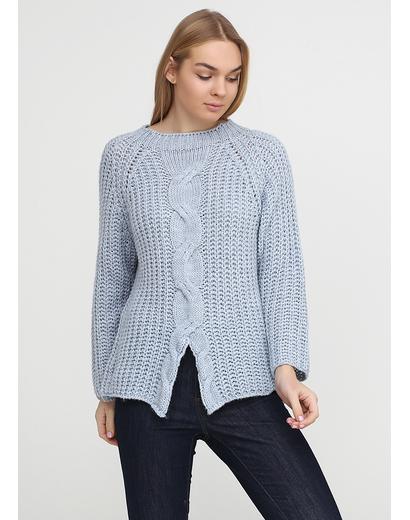 Голубой свитер джемпер Dins Tricot