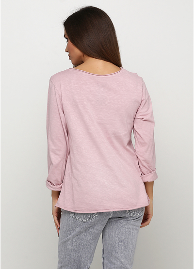 Розовый демисезонный повседневный лонгслив Italy Moda с рисунком