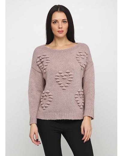 Розовый свитер джемпер Dins Tricot