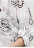 Белый демисезонный повседневный лонгслив Italy Moda с рисунком