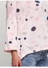 Светло-розовый демисезонный повседневный лонгслив Italy Moda в горошек
