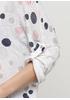 Белый демисезонный повседневный лонгслив Italy Moda в горошек
