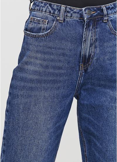 Синие демисезонные mom fit джинсы Miss BonBon